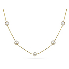 Pearl Necklace in 14K Yellow Gold