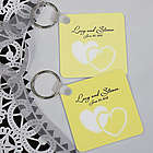 Personalized Hearts Keychain Wedding Favor