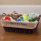 Pet Toy Embroidered Liner for Basket