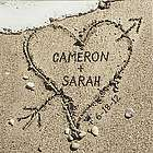 Small Personalized Heart in Sand Canvas