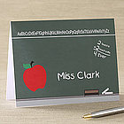 Personalized Teacher Chalkboard Note Cards