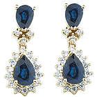 Sapphire & Diamond Earrings in 14K Gold