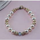 14k Yellow Gold Pearl Gemstone Baby/Child Bracelet