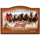 Budweiser Personalized Wooden Welcome Sign