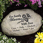 Personalized Our Family Blooms with Love Garden Stone