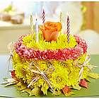 Fall Birthday Flower Cake