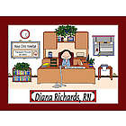 Personalized Business Executive Cartoon Print