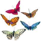 10 Handmade Rainbow Garden Magnetic Butterflies