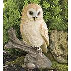 Barn Owl on Stump Sculpture