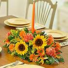 Fields of Europe for Fall Floral Centerpiece with Candle