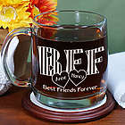 Engraved BFF Glass Mug