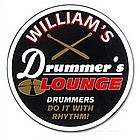 Drummers Lounge Custom Sign