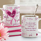 Personalized Love Life Breast Cancer Coffee Mug