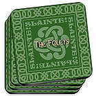 Celtic Green Irish Family Coasters