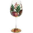 Holiday Berry Red Wine Glass