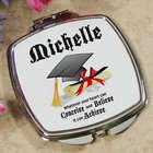 Graduation Cap Personalized Compact Mirror