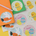 Easter Eggs, Easter Bunny, and Chicks Personalized Stickers
