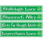 St. Patrick's Day Street Sign Cutouts