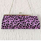 Alluring Sequined Leopard Print Mini Clutch Bag