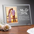 Personalized Mr. and Mrs. Glass Wedding Frame