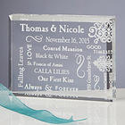 Personalized Romantic Our Life Together Clear Block