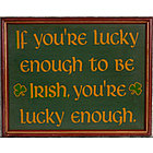 Lucky Irish Sign