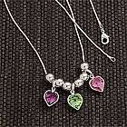 Custom Birthstone Heart Pendant Necklace for Mom and Grandma