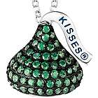 Sterling Silver May Birthstone Hershey's Kiss Necklace