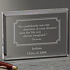 Inspirational Quotes Engraved Block