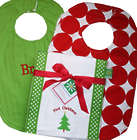 Baby's First Christmas Bib Burp Set
