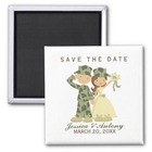 Army Wedding Save the Date Magnet