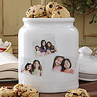 Photo Collage Cookie Jar with 3 Photos