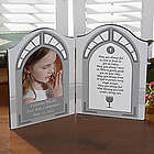 Personalized First Communion Photo Plaque with Poem