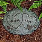 Personalized Two Hearts Garden Stone
