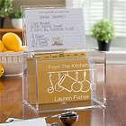 Personalized Acrylic Recipe Box