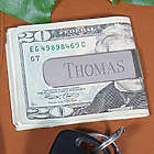 Personalized Silver Money Clip