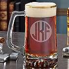 Classico Round Monogram Gold Rim Beer Mug