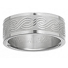 Mens Titanium Engraved Weave Band