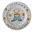 Personalized Boy Hanukkah Plate