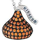 Sterling Silver January Birthstone Hershey's Kiss Necklace