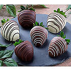 Milk Chocolate Dipped Strawberries with White Chocolate