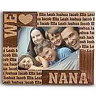 Personalized 5x7 We Heart Wood Frame