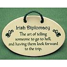 Irish Diplomacy Ceramic Plaque