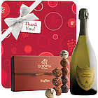 Thank You with Dom Perignon and Godiva Truffles