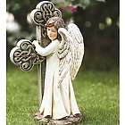 Angel Facing Cross Statue