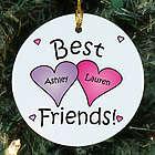 Best Friends Personalized Ceramic Ornament