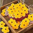 Three Dozen Sunflower Cutout Cookies