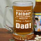 Special Dad Glass Beer Mug