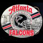 Atlanta Falcons NFL Pewter Belt Buckle