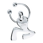Silver Jumping Man Can Opener Key Ring